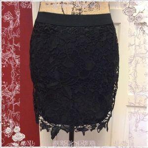 🦉NWT Aeo Black Floral Skirt🦉